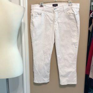 Nydj size 14P 14 petite Capri jeans lift & tuck